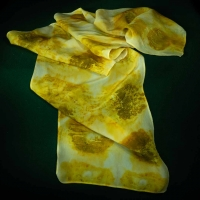 Botanical Print Scarf by the Village Knitiot