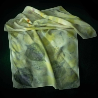 SOLD Botanical Print Scarf by the Village Knitiot