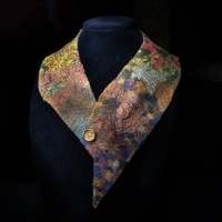 Felted collar by the Village Knitiot, Barbara Henry