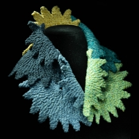 Knitted collar by the Village Knitiot, Barbara Henry