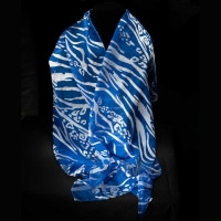 SOLD Dyed Silk Scarf by The Village Knitiot