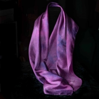 Dyed Silk Scarf by The Village Knitiot